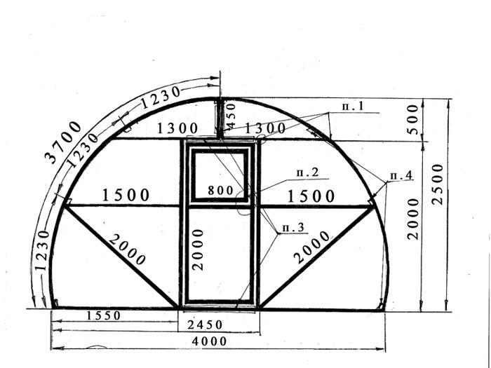 Теплица из поликарбоната чертежи размеры из